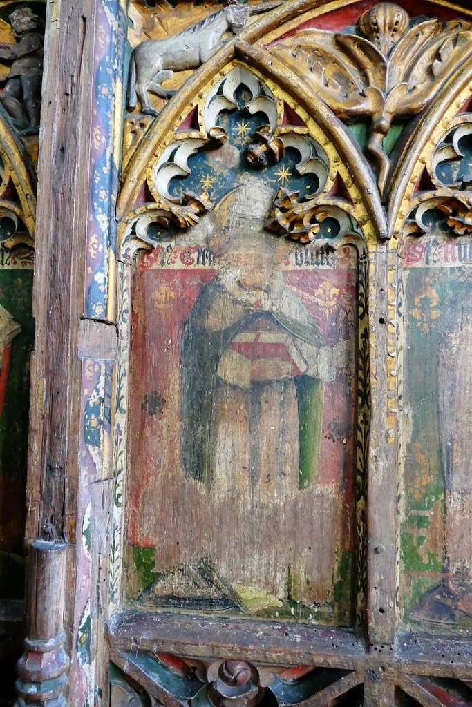 Fritton, Norfolk, St Catherine, rood screen , St Gregory