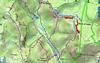 Carte IGN de la basse vallée du Cavu avec les traces des travaux de l'operata du 17/04/2021