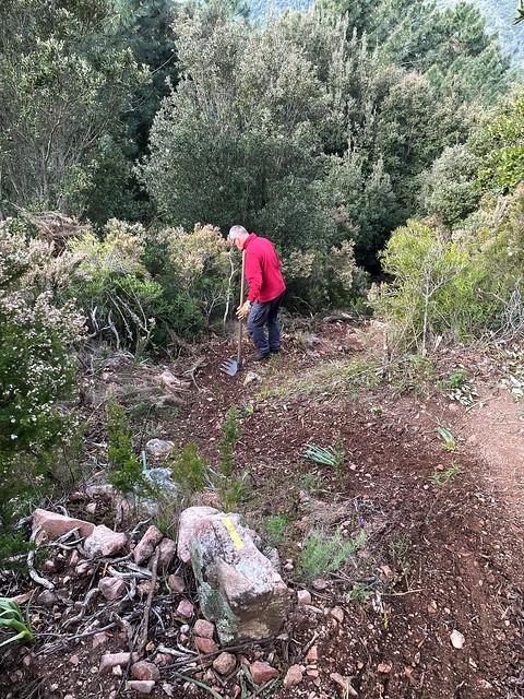 Travaux d'entretien dans la descente de Fugulina (PR5)