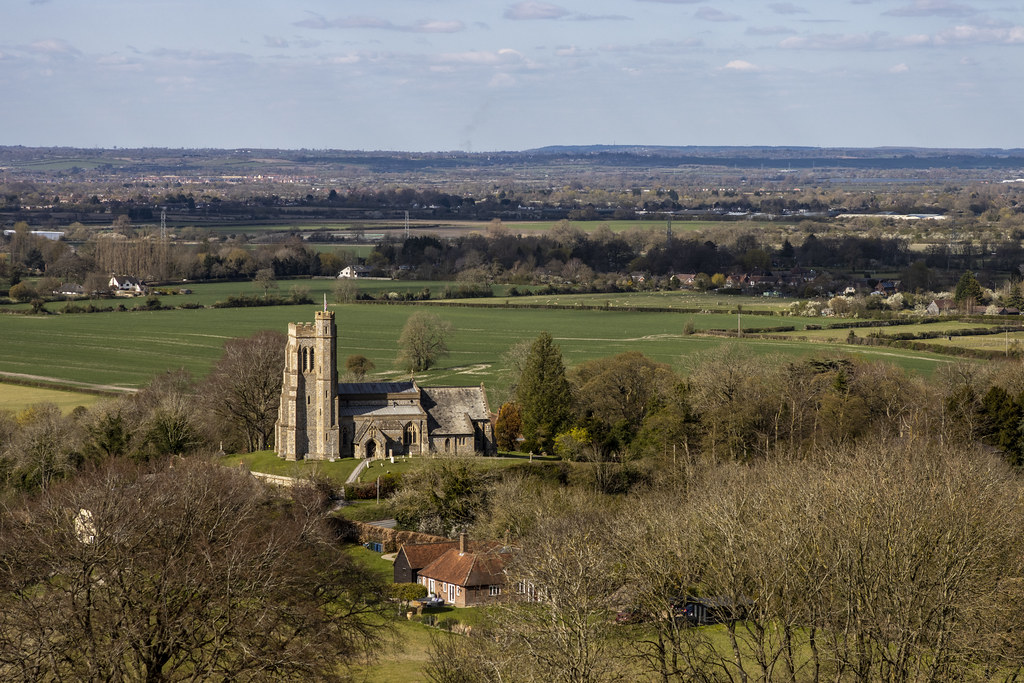 Church Of Saints Peter and Paul From Beacon Hill, Ellesborough