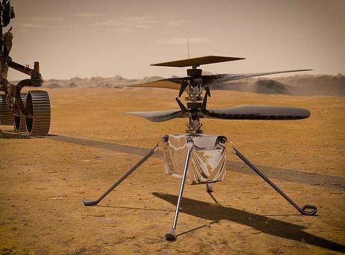 Mars Helicopter Ingenuity, un drone volando en Marte
