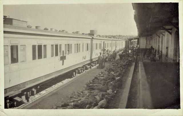 Palestine Military Railways - Jerusalem Railway Station in June 1918 - Hospital Train Nr. 48