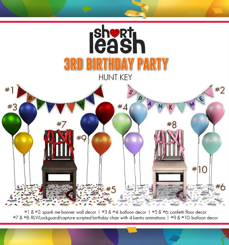 .:Short Leash:. 3rd Birthday Party Hunt Key