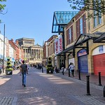 Shoppers on Friargate in Preston