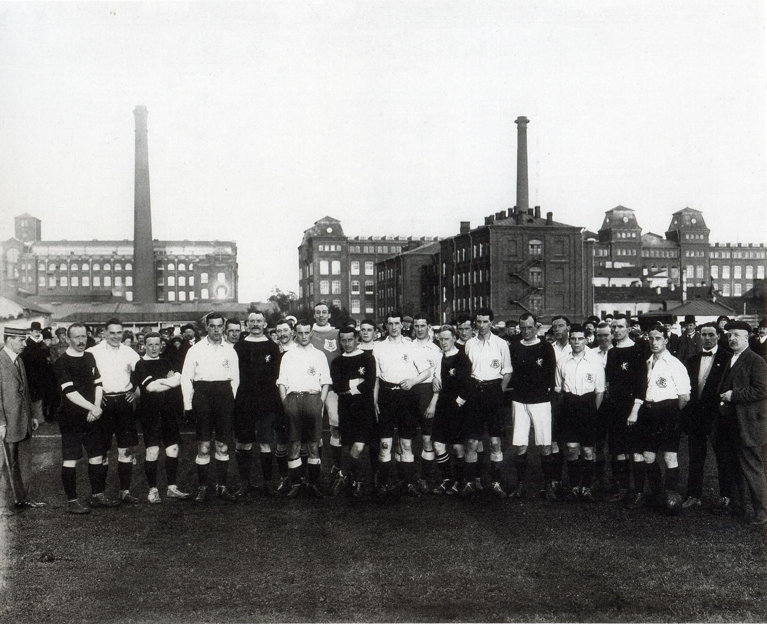 1911. Футбольный матч Англия-Россия