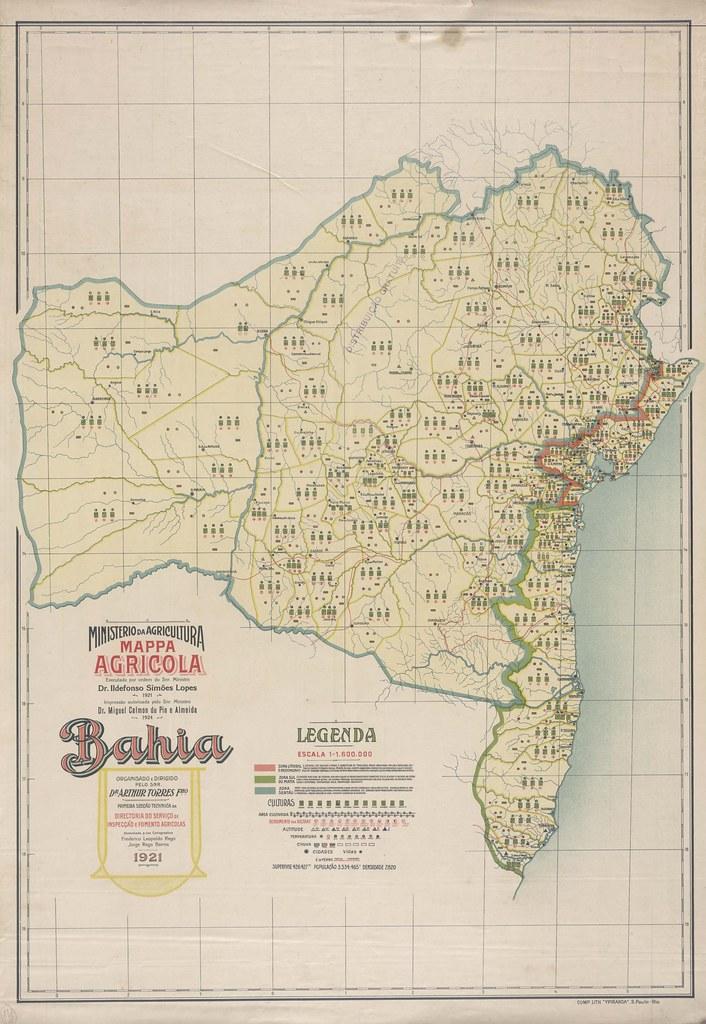 Mapa Agrícola da Bahia