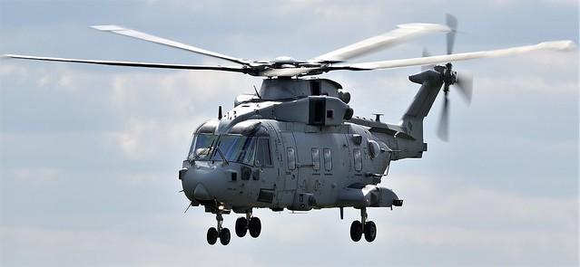 AgustaWestland EHI Merlin HC.4 Helicopter ZJ122 is used by the Fleet Air Arm RN (Royal Navy