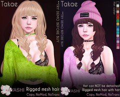 [^.^Ayashi^.^] Takae hair with and without hat special for The Cosmopolitan
