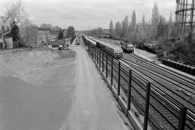 Berlin Baustelle DB Dresdner Bahn  16.4.2021