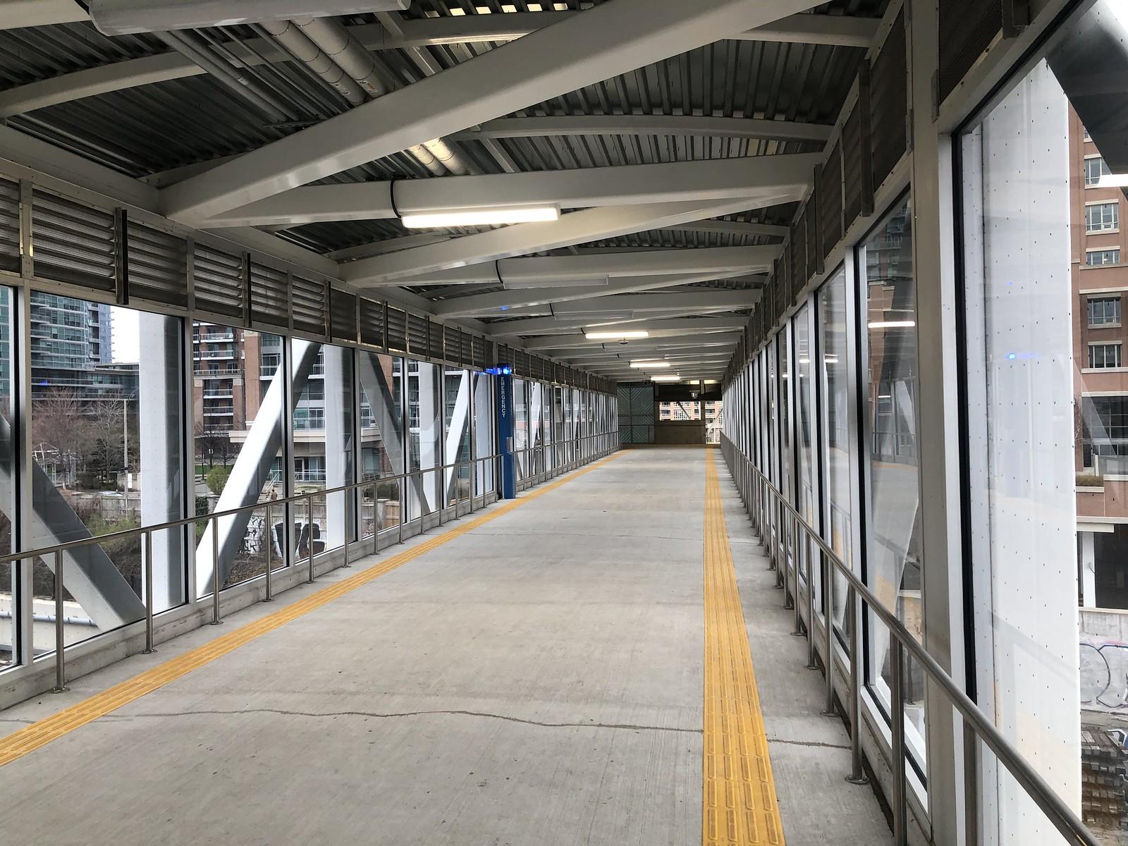 Inside the King-Liberty Pedestrian/Cycle Bridge