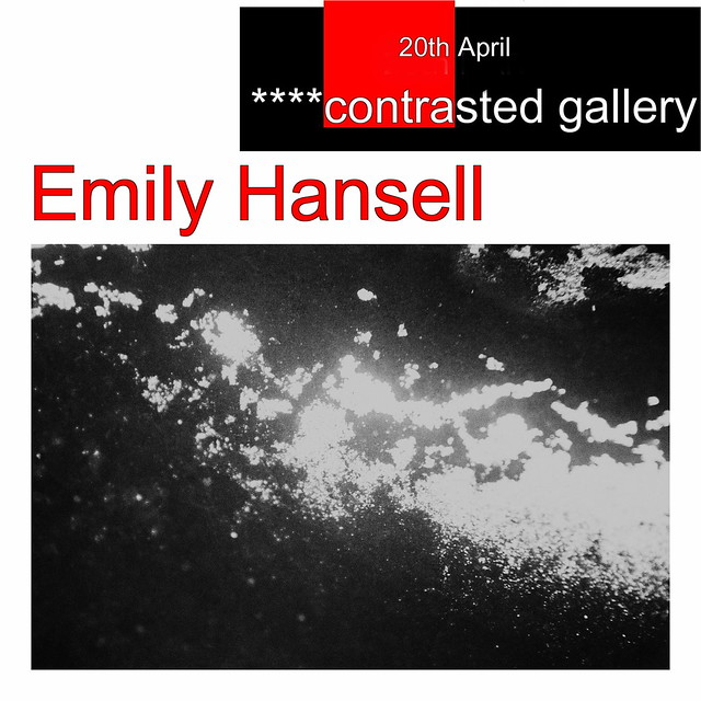 Opening tomorrow, Emily Hansell's photography in ****contrasted gallery!