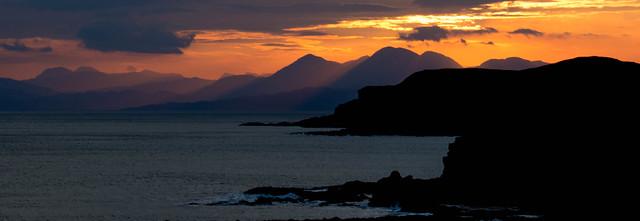 Sunrise over the Western Highlands of Scotland