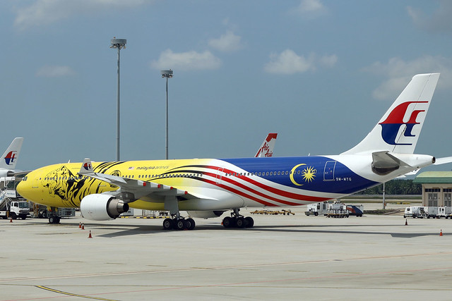 Malaysia Airlines A330-300 9M-MTG parked at KUL/WMKK