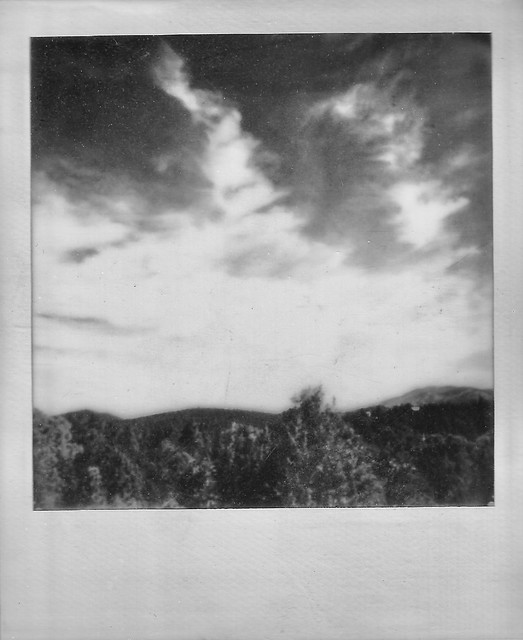 Spring Polaroid Week 2021, Day 2: Sangre de Christo Mountains (Santa Fe, NM)