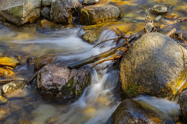 Rocks and cascades, Navalmedio Stream, Sierra de Guadarrama National Park, Madrid, Spain