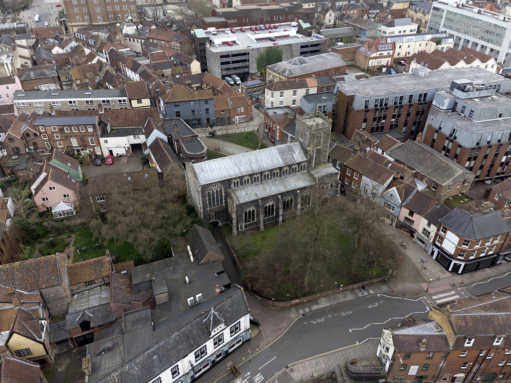 Norwich aerial image - St Gregory's Church