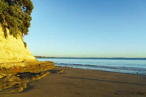 auckland haurakigulf nz newzealand northshore stleonardsbay takapuna calm dawn sea sunrise