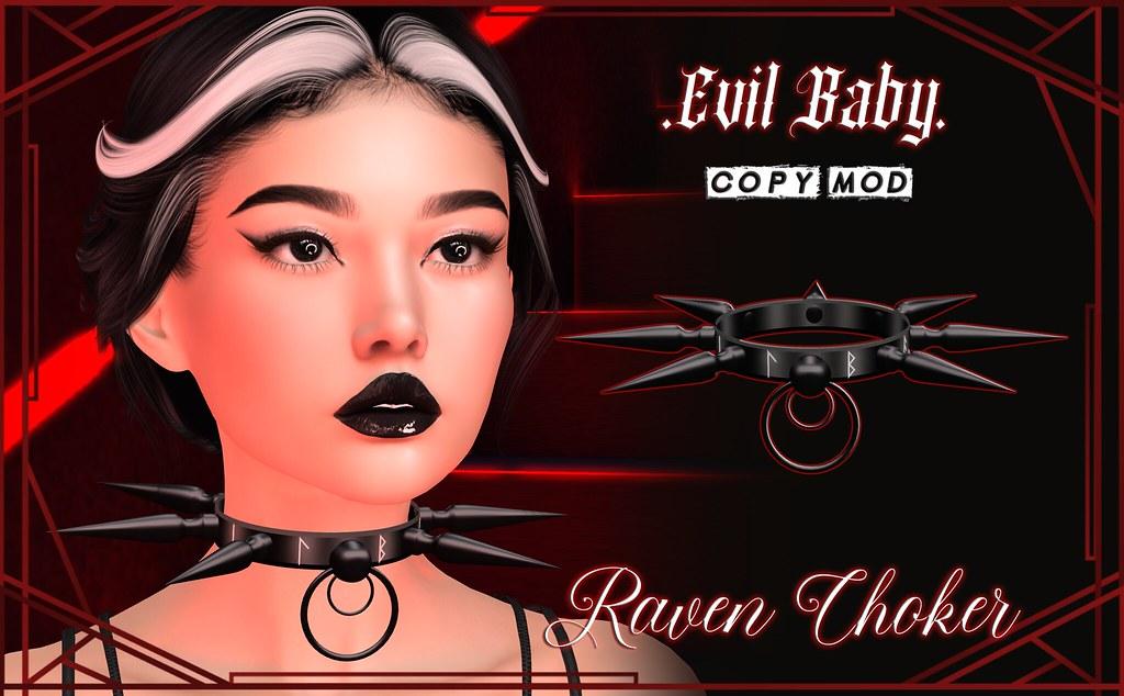 Evil Baby – Raven Choker