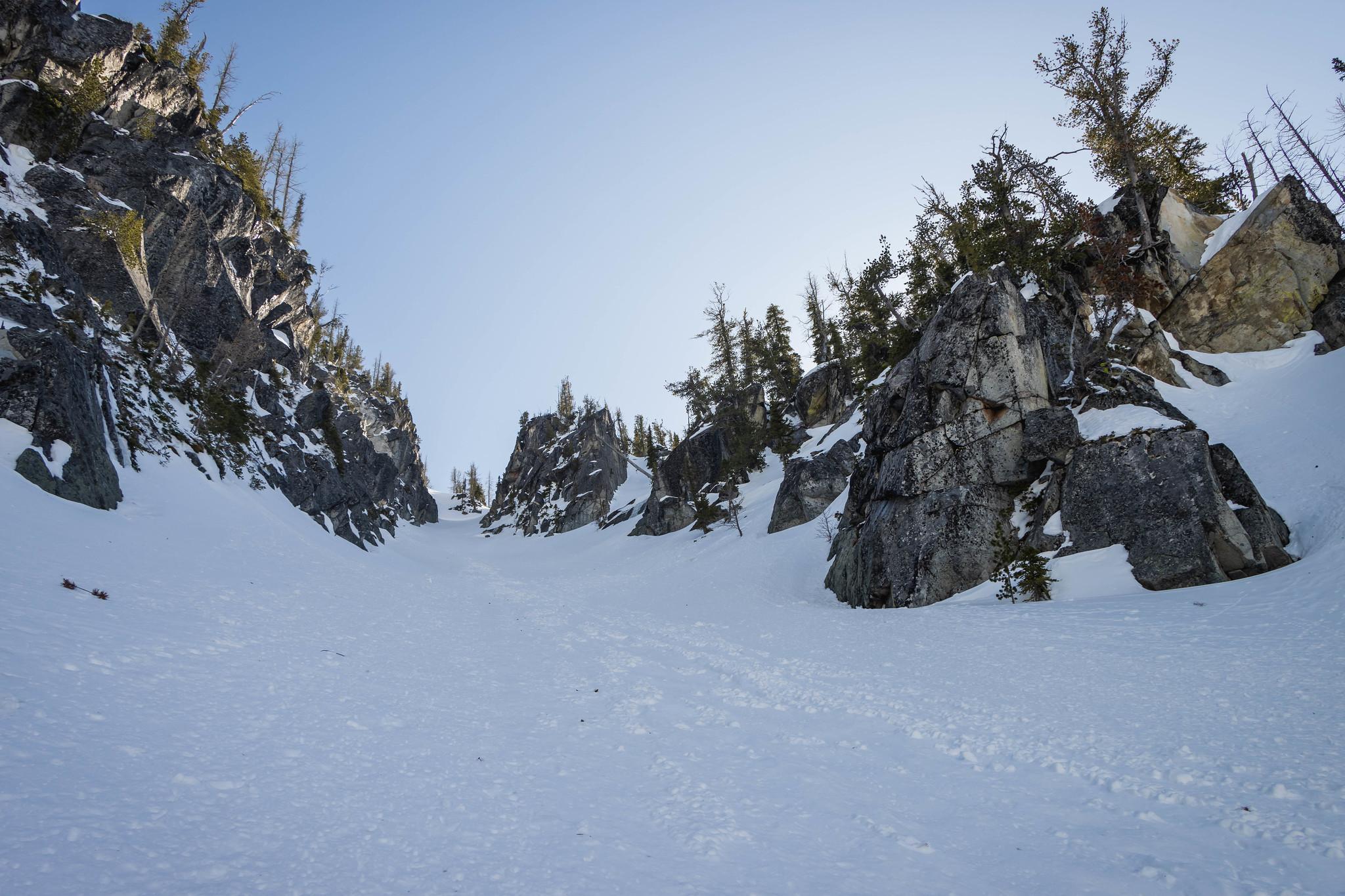 Mountaineer Ridge north couloir
