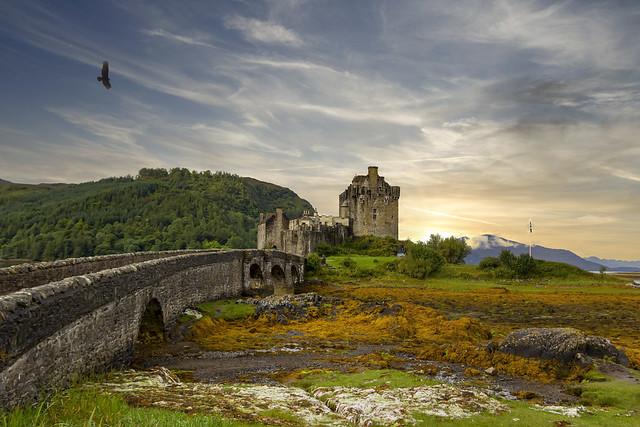 Sunset on Eilean Donan Castle