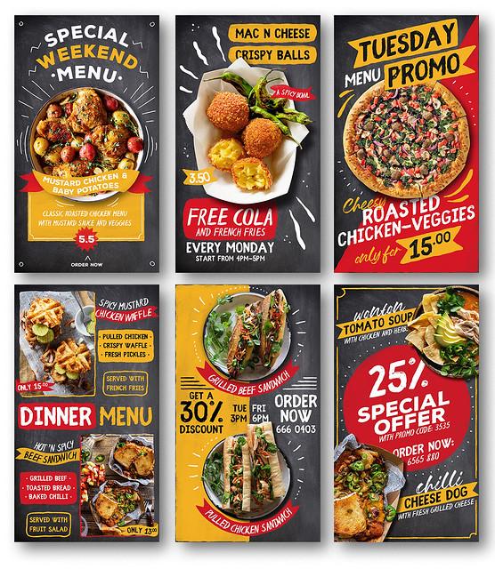 Fun Blackboard Food Menu Instagram Stories - 1