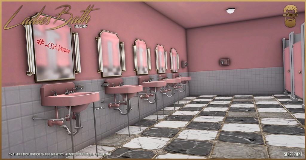 Ladies Bath Backdrop @ Sense Event! ♥