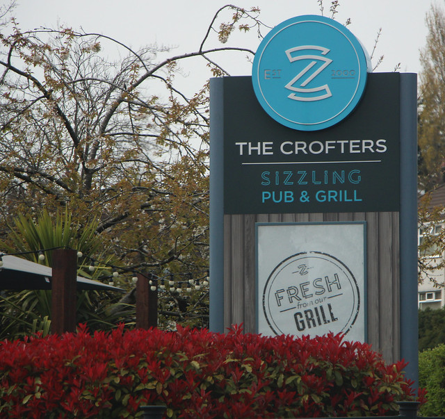 English Pub Sign - The Crofters - Liverpool
