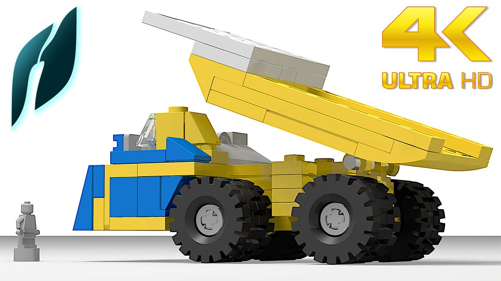 How to Build the Haul Truck BelAZ 75710 (MOC - 4K)