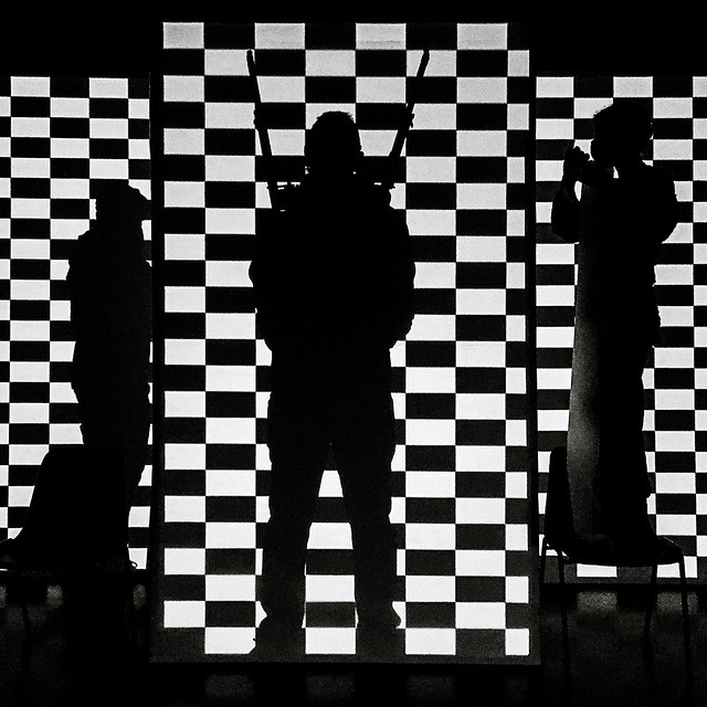 black & white shadow pattern