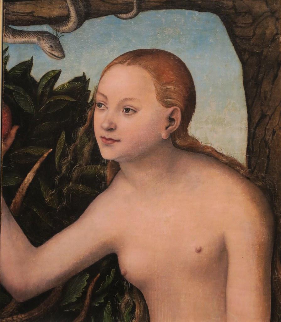 Eve (1531), Lucas Cranach l'Ancien - Musée National, Wrocław