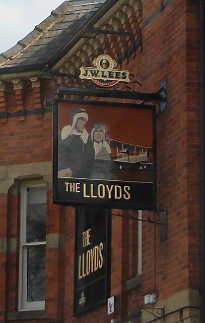 English Pub Sign - The Lloyds, Manchester