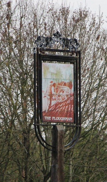 English Pub Sign - The Ploughman, Liverpool
