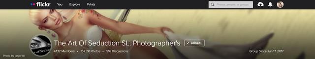 Cover - The Art of Seduction SL Photographer's