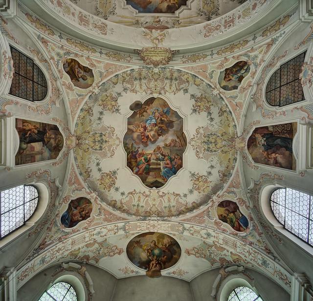 Haunstetten, St. Georg - Chordecke
