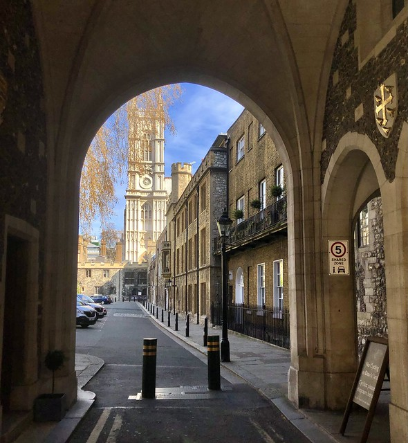 Westminster Abbey in spring