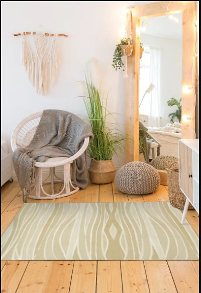 Waves Natural Washable Rug