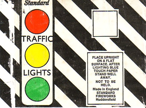 The 'Traffic Lights' Fountain by Standard Fireworks.