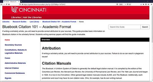 Bluebook Citation Guide Academic Format