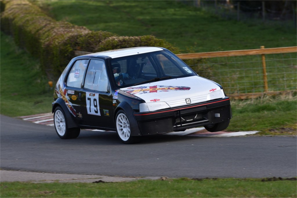 The Peugeot 106 of Gavin Neate  at Harewood (JCB Photography)