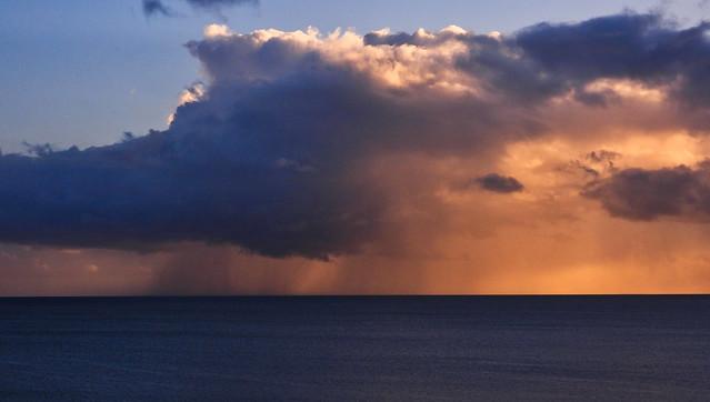 Coral Sea Rainstorm - March 19, 2020
