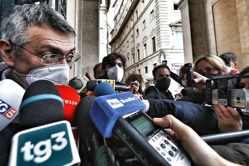 Incontro Cgil, Cisl e Uil con Presidente del Consiglio Mario Draghi