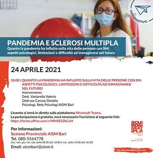 pandemia e sclerosi multipla locandina