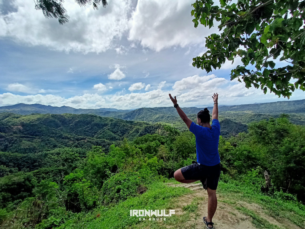 Tree pose at the summit of Malvar's Peak