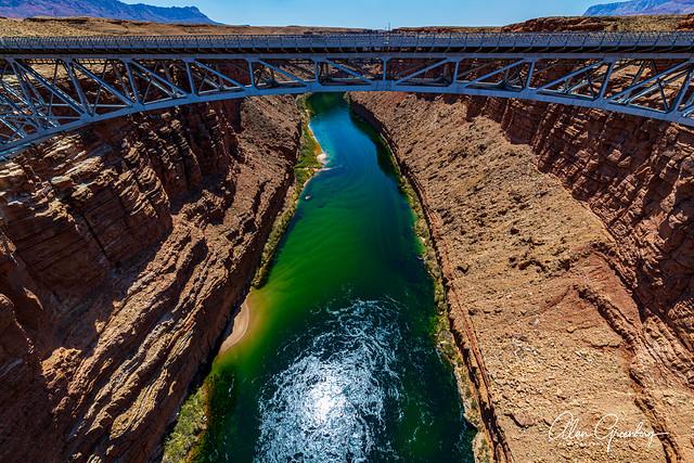 Navajo Bridge above the Colorado River Gorge