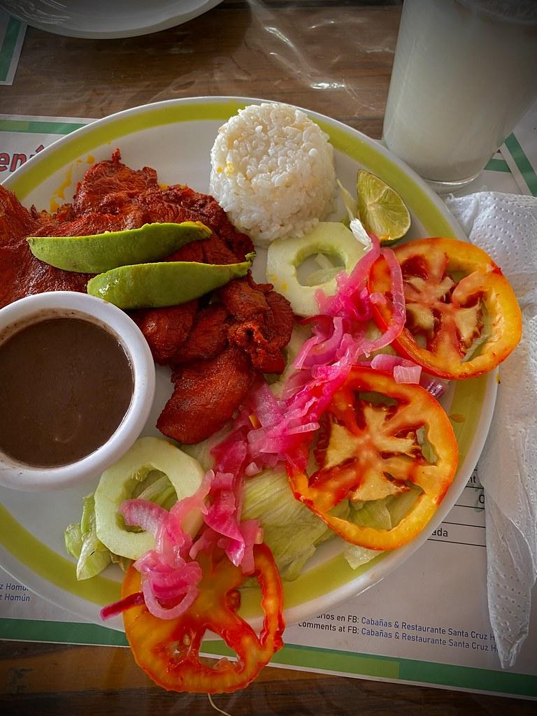 Carne a la Yucateca, Cabañas & Restaurante Santa Cruz Homún, Homun, Yucatan, Mexico