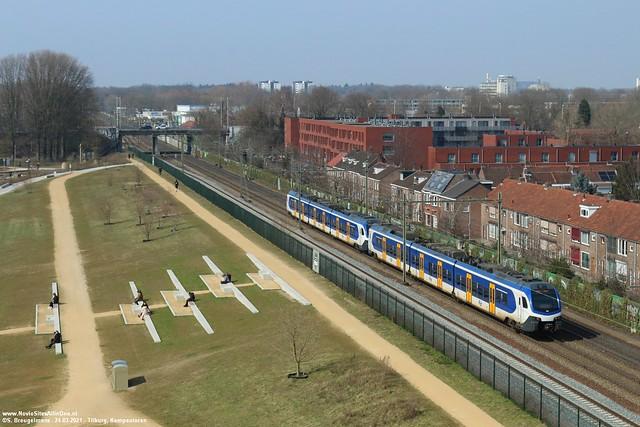 NS 2222 & 2214 - Tilburg (NL) 24-03-2021.