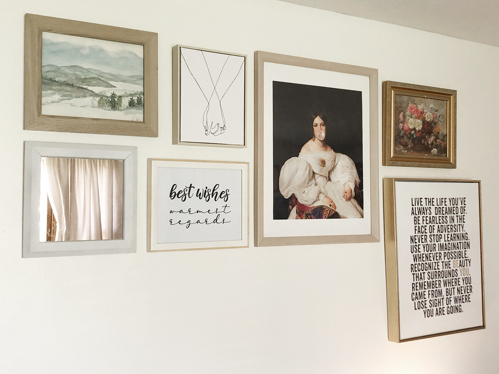 art gallery wall with society6 and target