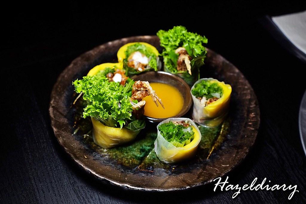 Sen-ryo-Soft Shell Crab and Mango Nama Haru Maki