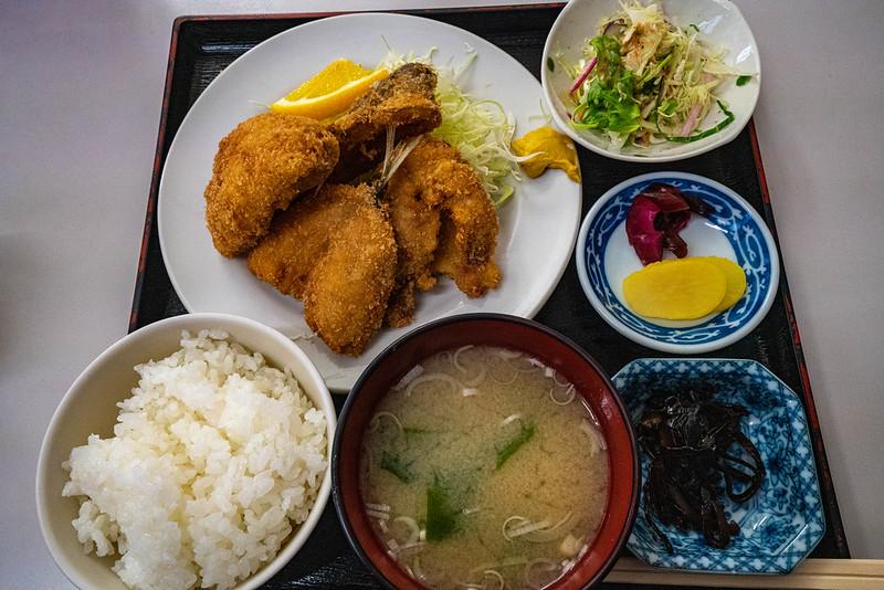 津久井浜 漁火亭 フライ定食