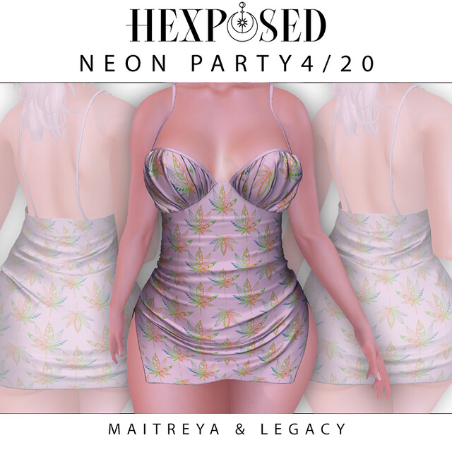 neon party 4/20 dress